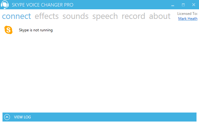 Screenshot: Skype not running