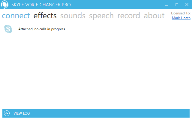 Screenshot: Skype attached